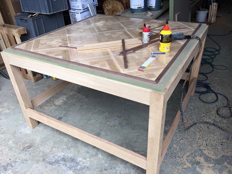 Tafel renovatie - hout renovatie - Vloerenbedrijf Bezema